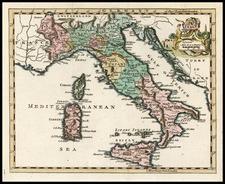 Europe and Italy Map By Thomas Jefferys