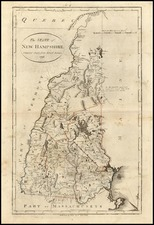 New England Map By John Reid