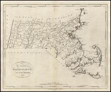 New England Map By John Reid