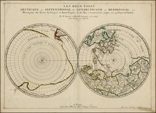 World, World and Polar Maps Map By Nicolas Sanson