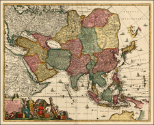 Asia, Asia, Australia & Oceania and Australia Map By Frederick De Wit / Covens & Mortier