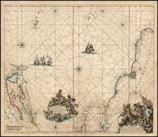 World, Atlantic Ocean, Canada, Caribbean and Brazil Map By Frederick De Wit