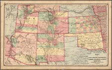 Plains, Southwest and Rocky Mountains Map By H.H. Lloyd / Warner & Higgins