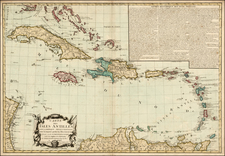 Southeast and Caribbean Map By Jacques Esnauts  &  Michel Rapilly