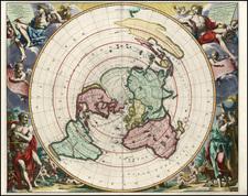 World, World and Polar Maps Map By Pieter van der Aa