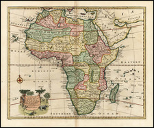 Africa and Africa Map By Emanuel Bowen