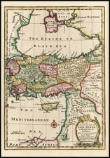 Europe, Turkey, Asia and Turkey & Asia Minor Map By Emanuel Bowen