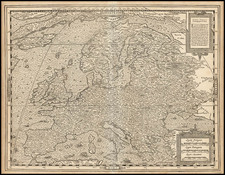 World, Atlantic Ocean, Europe, Europe and Balearic Islands Map By Andre Thevet