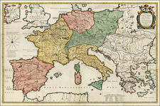 Europe, Europe, Italy, Turkey and Mediterranean Map By Petrus Bertius