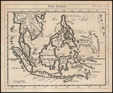 Southeast Asia and Philippines Map By Sanson fils