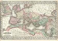 Europe and Europe Map By Samuel Augustus Mitchell