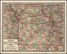 Midwest and Plains Map By George F. Cram