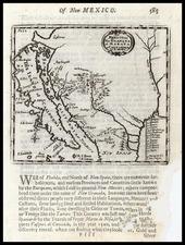 Texas, Southwest, Mexico and California Map By Robert Morden