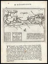 Atlantic Ocean and Caribbean Map By Robert Morden