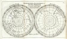 World, World, Northern Hemisphere, Southern Hemisphere and Polar Maps Map By Sanson fils