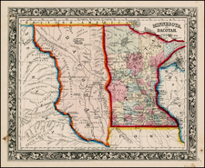 Midwest and Plains Map By Samuel Augustus Mitchell Jr.