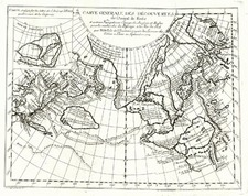 World, Polar Maps, Alaska and Canada Map By Denis Diderot / Didier Robert de Vaugondy