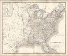 United States, Texas and Plains Map By Alexander Keith Johnston