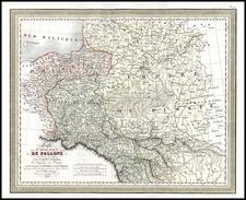 Europe, Poland, Russia and Baltic Countries Map By Louis Vivien de Saint-Martin