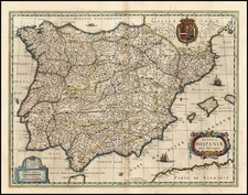 Europe, Spain and Balearic Islands Map By Willem Janszoon Blaeu