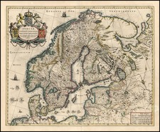 Europe and Scandinavia Map By Willem Janszoon Blaeu