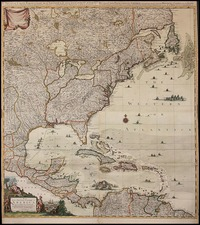 United States and North America Map By Covens & Mortier / Henry Popple
