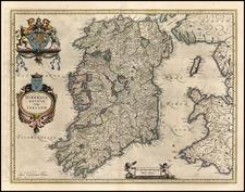 Ireland Map By Willem Janszoon Blaeu