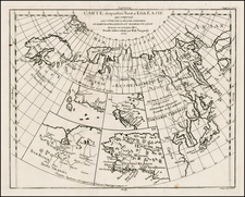 Alaska, Japan and Russia in Asia Map By Denis Diderot / Didier Robert de Vaugondy