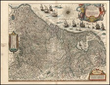 Europe and Netherlands Map By Willem Janszoon Blaeu
