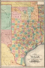 Texas, Plains and Southwest Map By George F. Cram