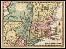 New England Map By John Lodge