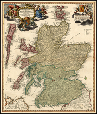 British Isles Map By Johann Baptist Homann
