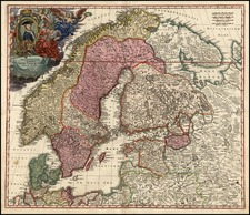 Europe, Russia, Baltic Countries and Scandinavia Map By Johann Baptist Homann
