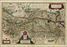 Austria and Czech Republic & Slovakia Map By Willem Janszoon Blaeu
