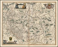 Europe and Poland Map By Willem Janszoon Blaeu