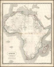 Africa and Africa Map By W. & A.K. Johnston