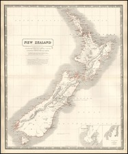 Australia & Oceania and New Zealand Map By W. & A.K. Johnston