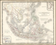 Asia, Southeast Asia and Philippines Map By W. & A.K. Johnston