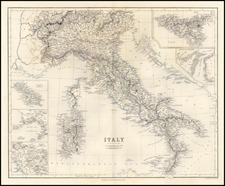 Europe, Italy and Balearic Islands Map By A Fullerton & Co.