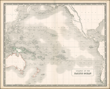 World, Australia & Oceania, Pacific and Oceania Map By W. & A.K. Johnston