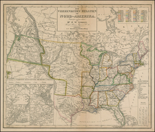 United States and Texas Map By Dr. F.W. Streit