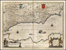Europe and Spain Map By Willem Janszoon Blaeu