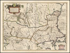 Europe, Romania and Balkans Map By Willem Janszoon Blaeu