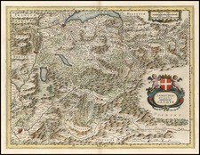 Europe, Switzerland, France and Italy Map By Willem Janszoon Blaeu