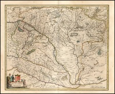 Europe, Austria and Hungary Map By Willem Janszoon Blaeu