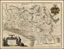 Europe, Germany, Poland and Czech Republic & Slovakia Map By Willem Janszoon Blaeu