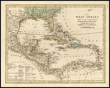 South, Southeast, Caribbean and Central America Map By Robert Wilkinson
