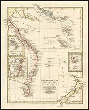 Australia & Oceania, Australia, Oceania, New Zealand and Other Pacific Islands Map By Robert Wilkinson