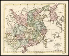 Asia, China, Japan and Korea Map By Robert Wilkinson