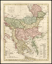 Europe, Balkans, Greece, Turkey and Mediterranean Map By Robert Wilkinson